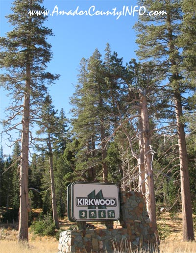 Kirkwood Ski Resort in Northern CA USA