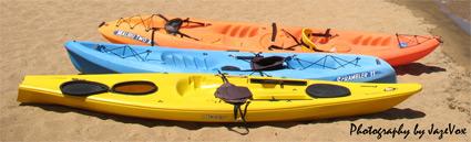 Three Kayak Kayaks